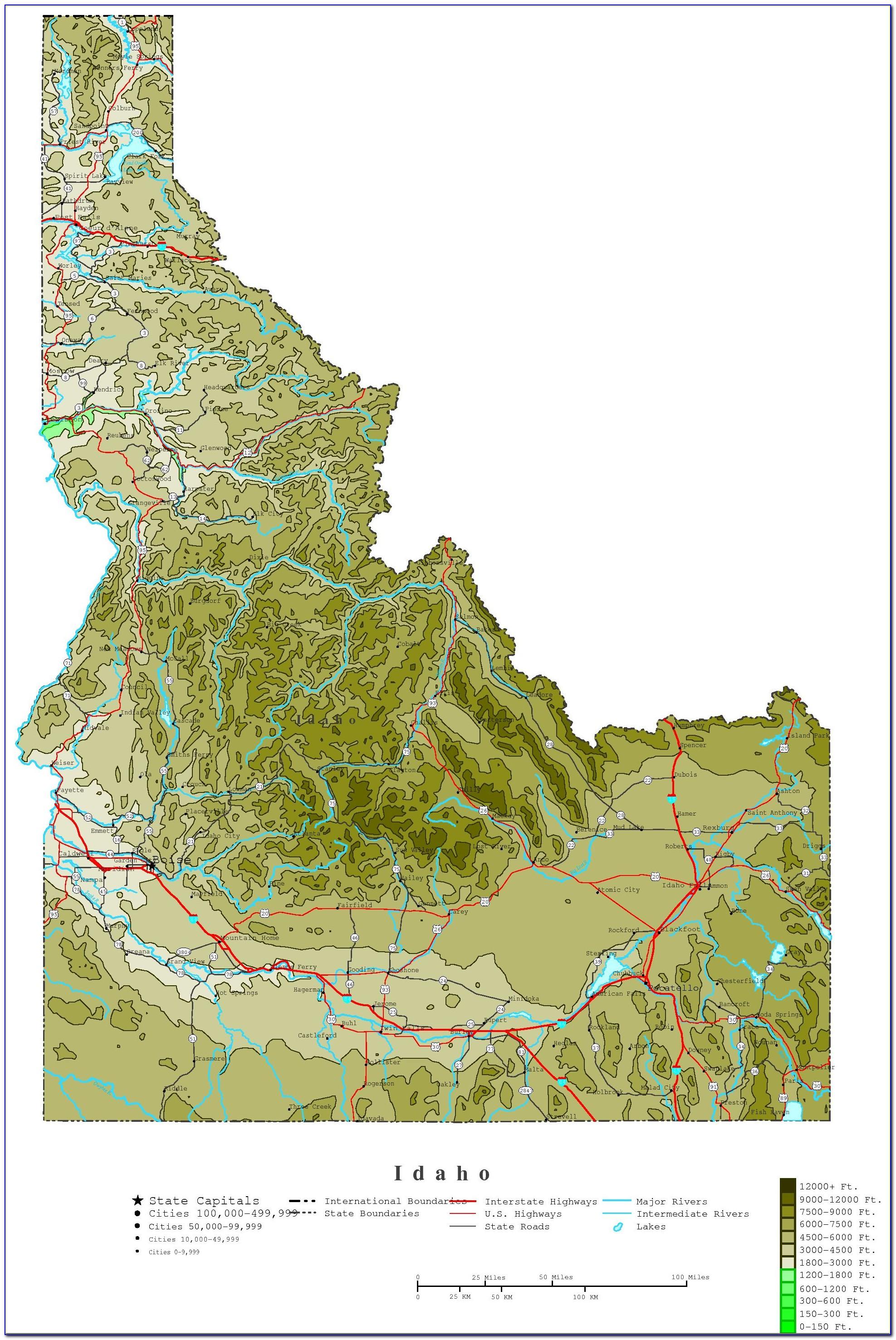 Topo Maps Idaho Free