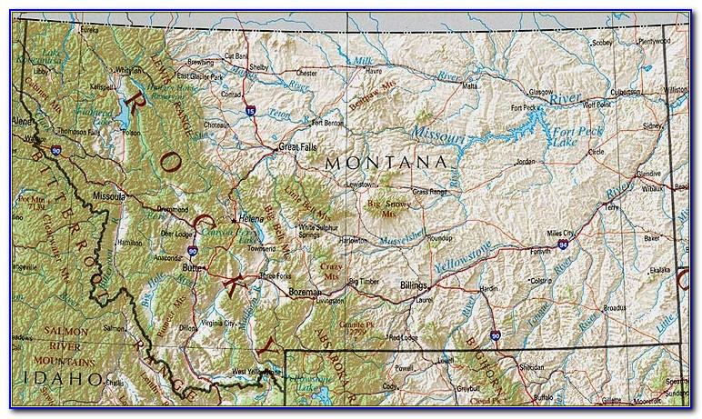 Topo Maps Of Montana