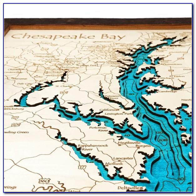 Topographic Map Of Chesapeake Bay