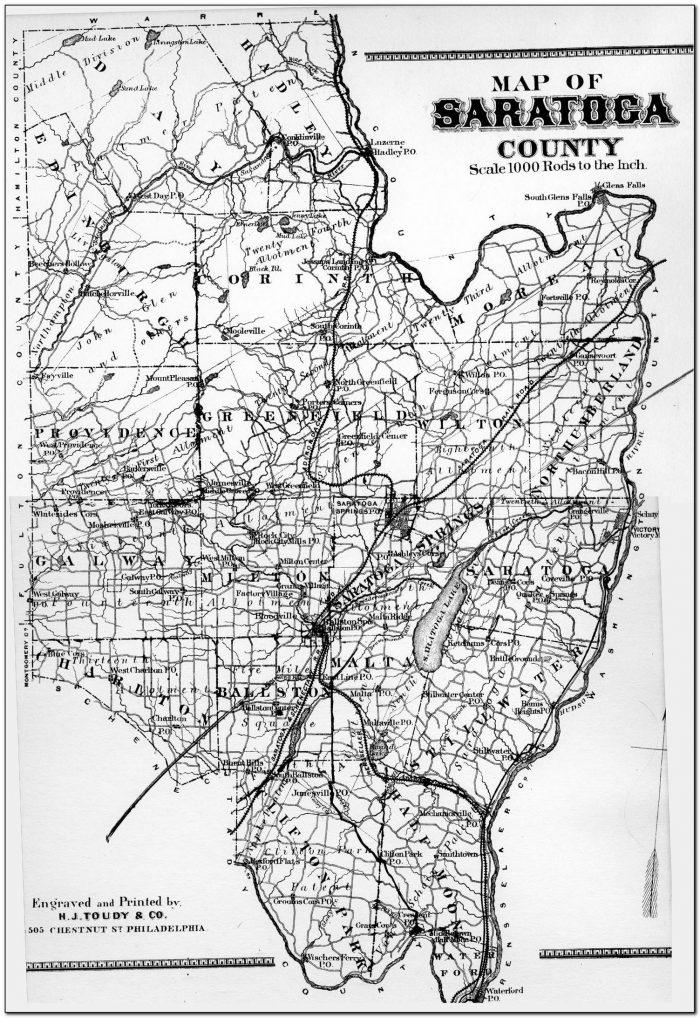 Topographic Map Saratoga County Ny