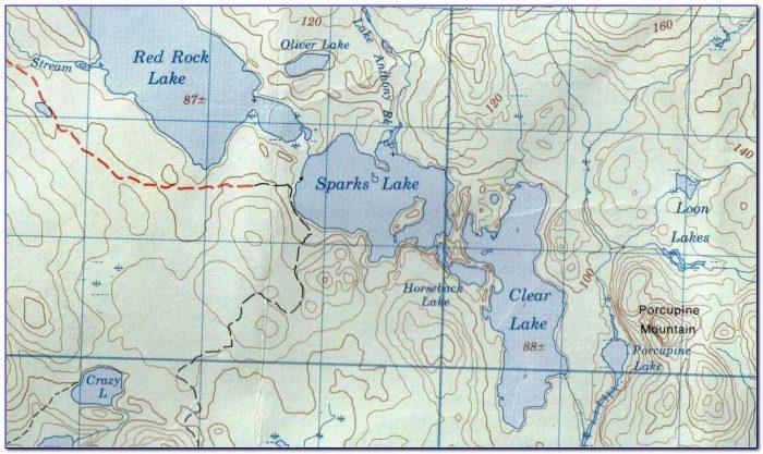 Topographic Maps Ontario Lakes
