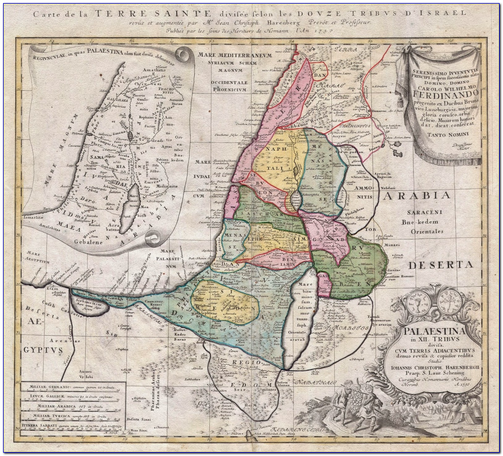Topographical Map Of Ancient Palestine