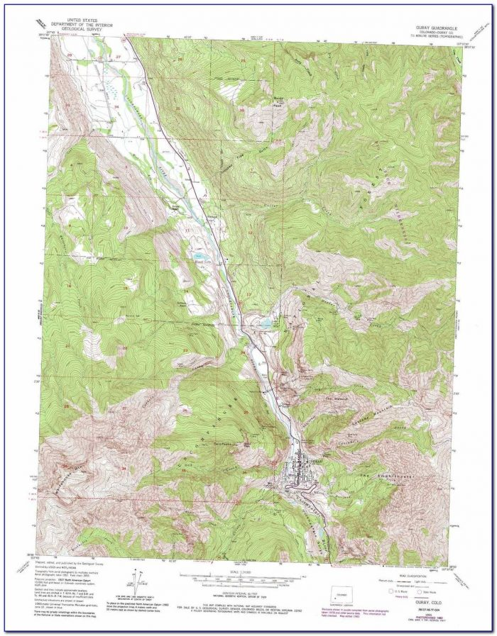 Topographical Map Of Southern Colorado