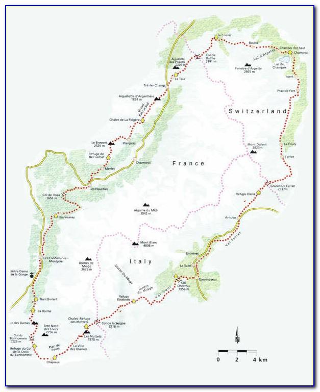 Tour Du Mont Blanc Map Amazon