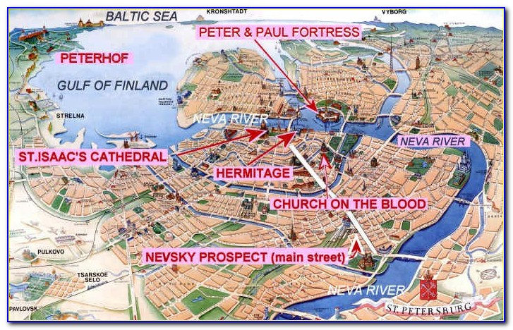 Tourist Map Of St Petersburg Russia