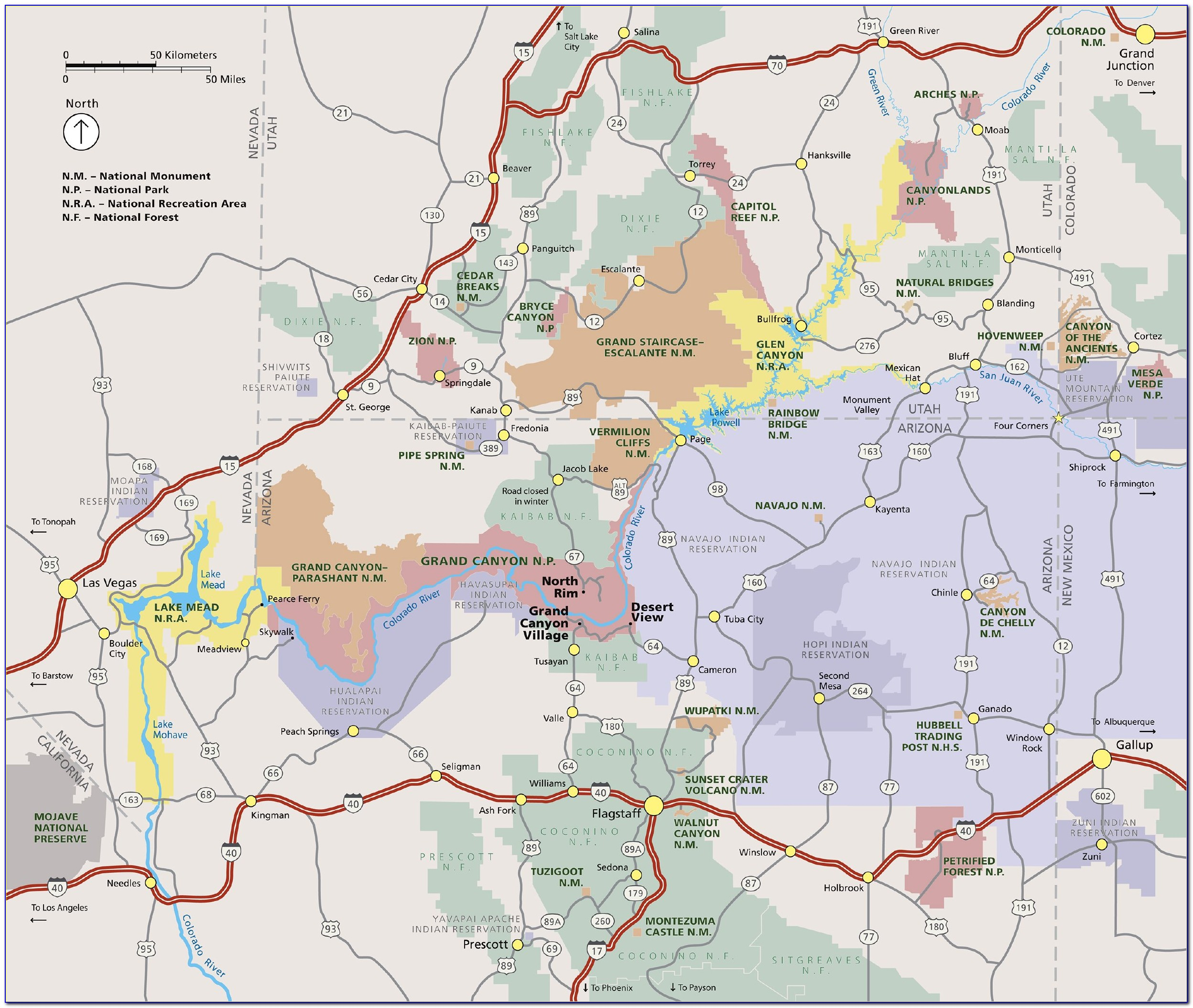 Tourist Map Of The Grand Canyon