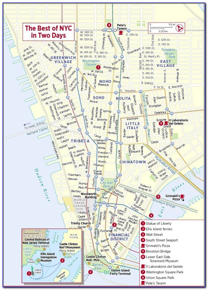 Tourist Maps Of New York City Printable