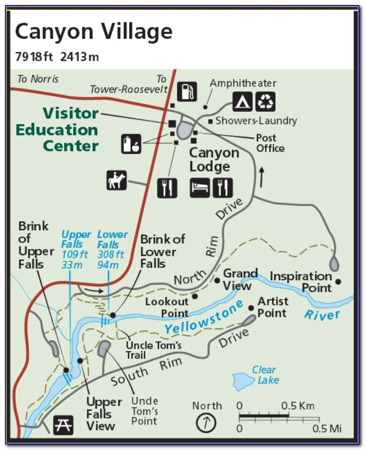 Trail Maps Yellowstone National Park