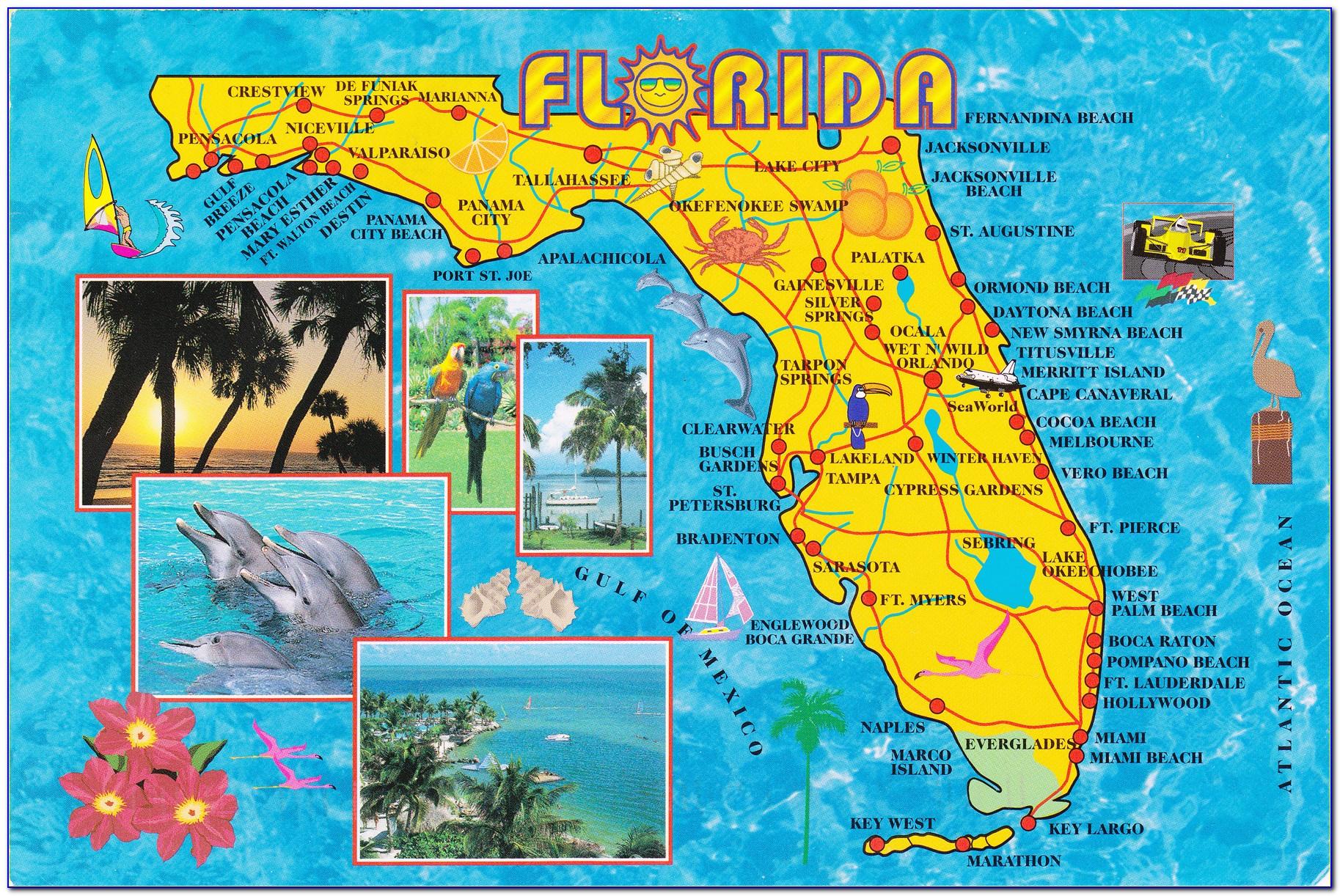 Travel Map Of Florida