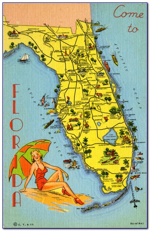 Travel Map Of Southern Florida