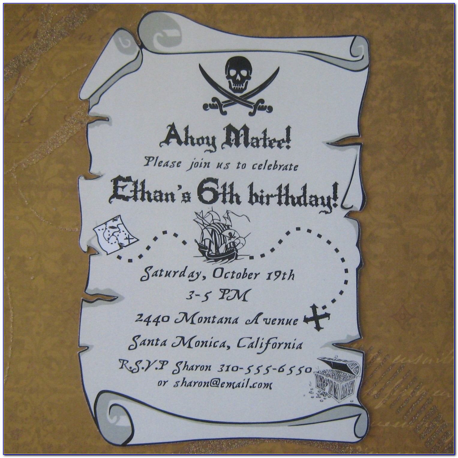 Treasure Map Invitation Template