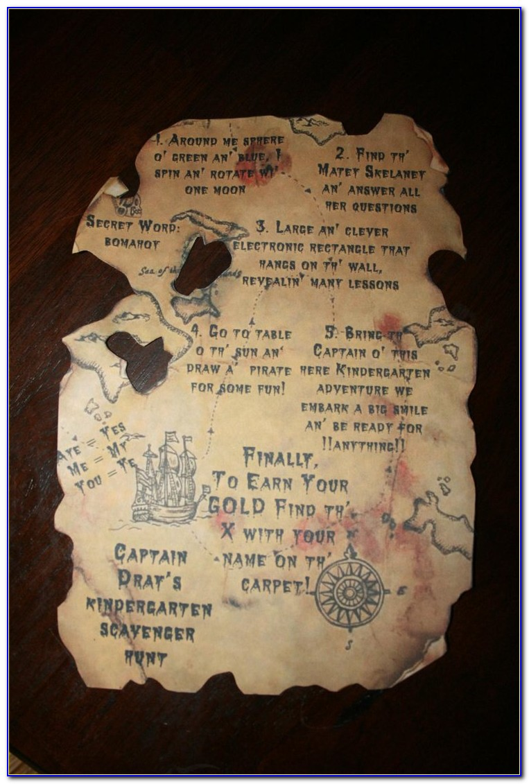 Treasure Map Invitation Wording