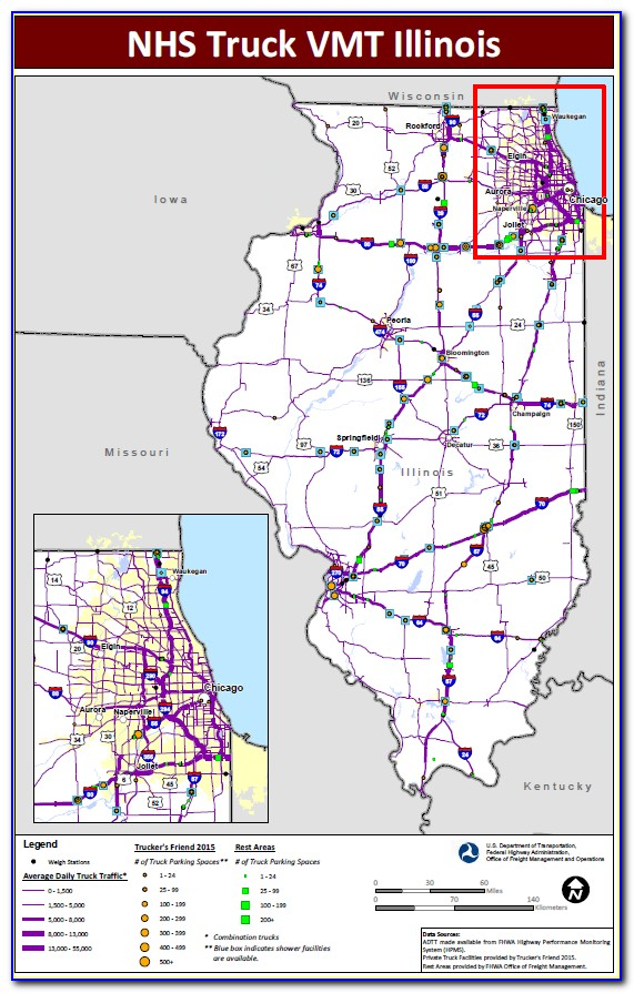 Truck Weigh Station Map Illinois