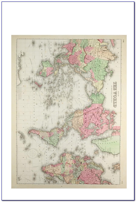 Typo World Map Canvas
