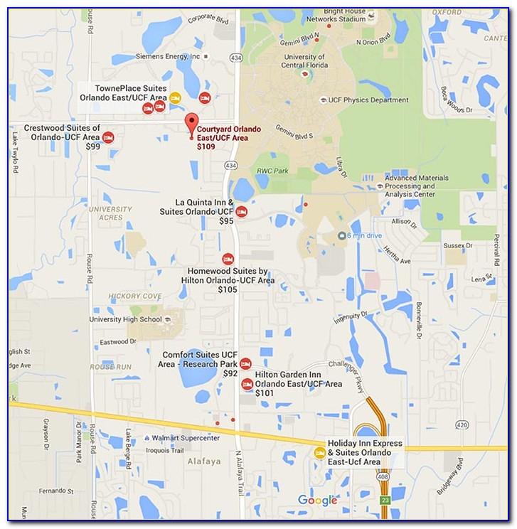 Ucf Hotels Map