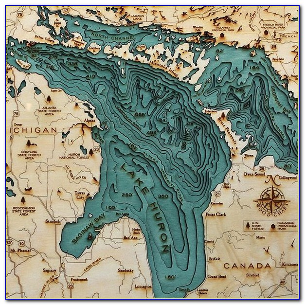 Underwater Maps Of Lakes