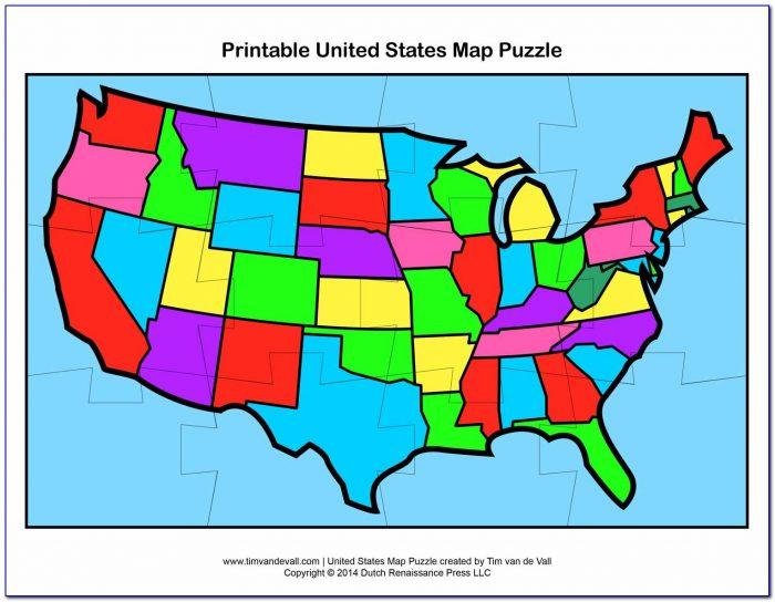 United States Map Puzzle