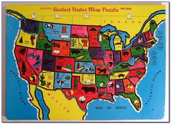 United States Map Puzzle Amazon