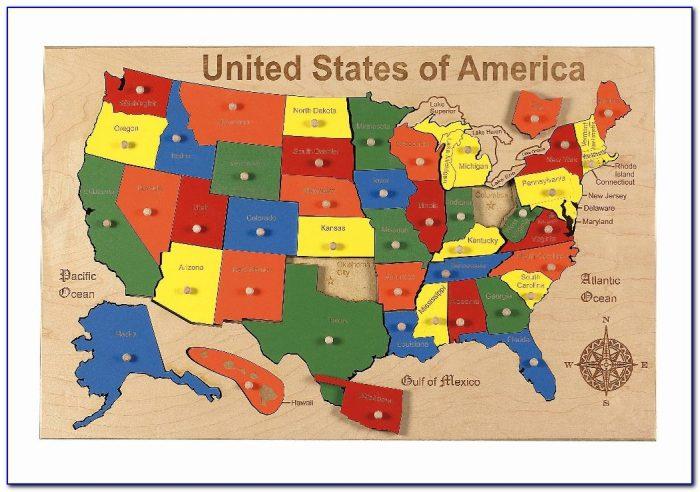 United States Puzzle Map App