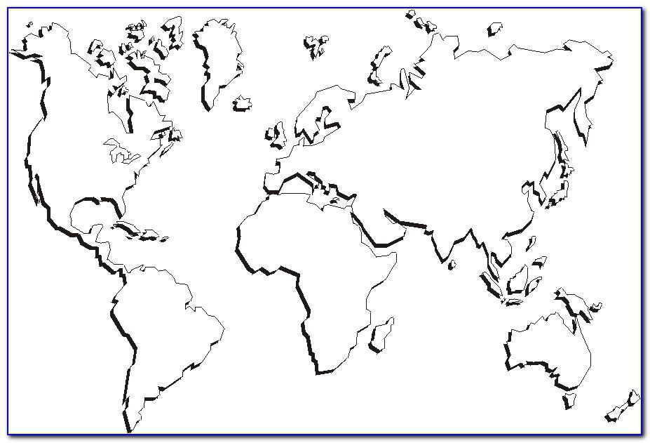 Unlabelled World Map Printable