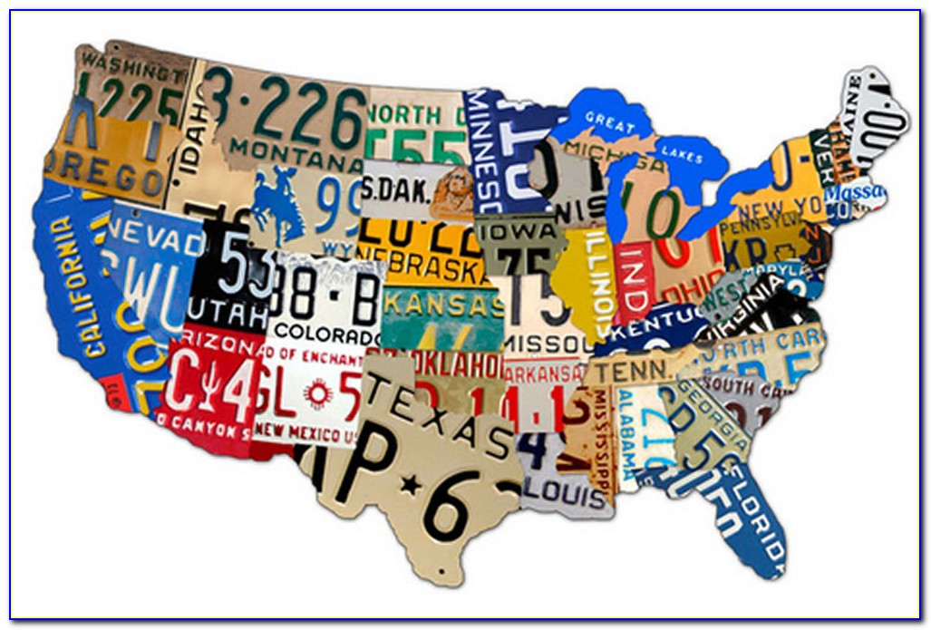 Us Map License Plate Game
