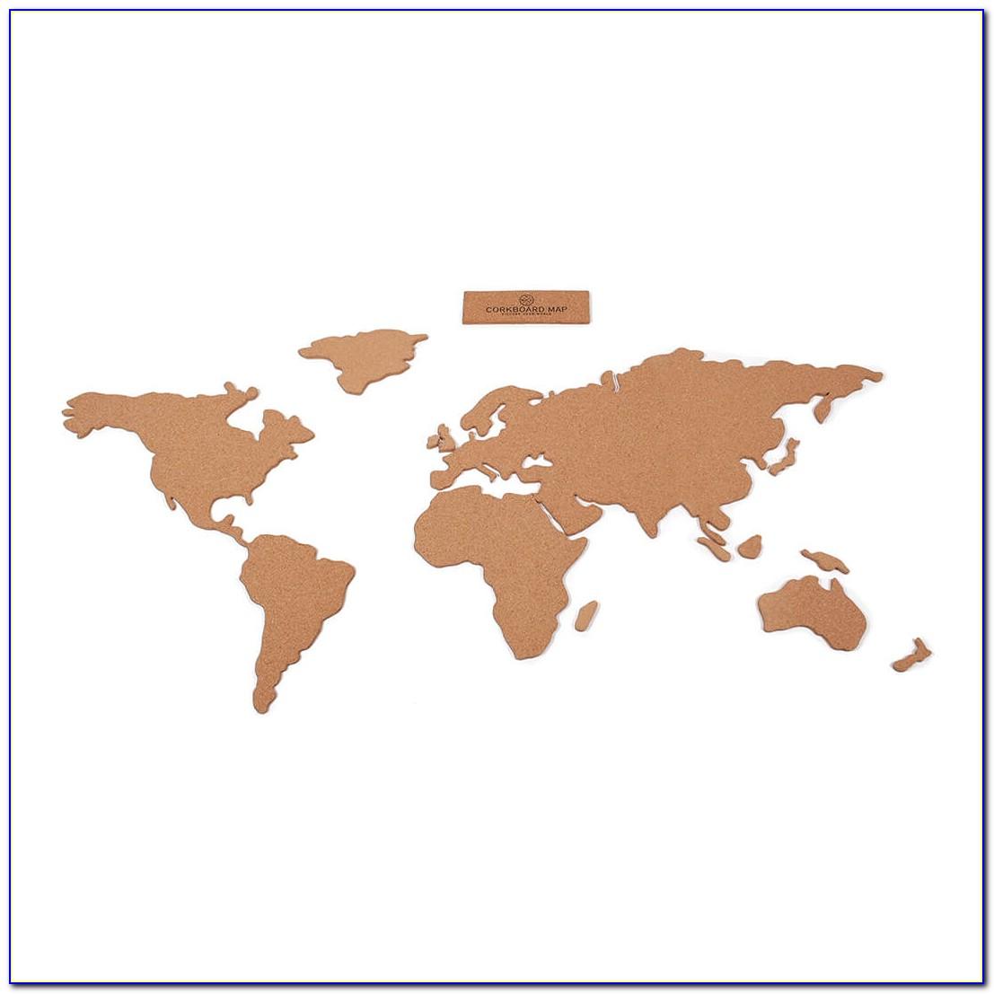 Us Map On Cork Board