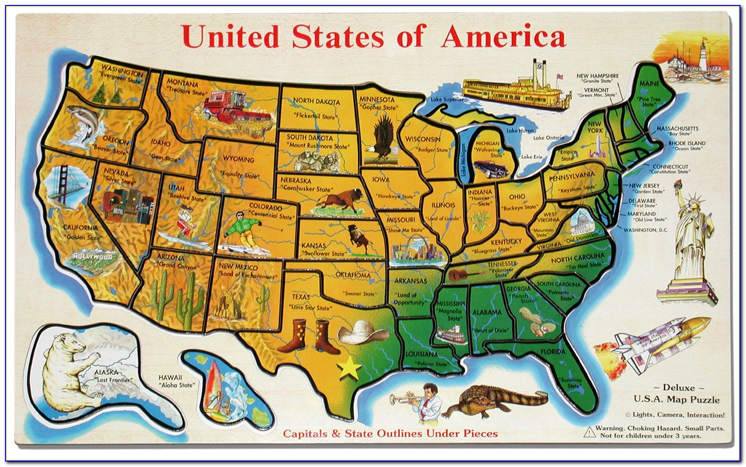 Us Map Puzzle Amazon