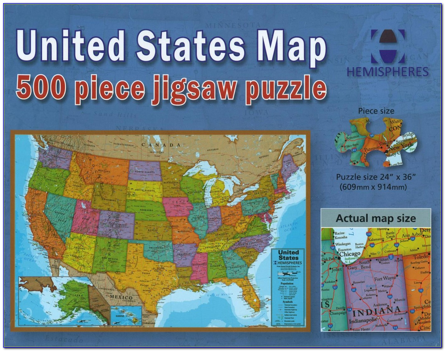 Us Map Puzzle With Capitals