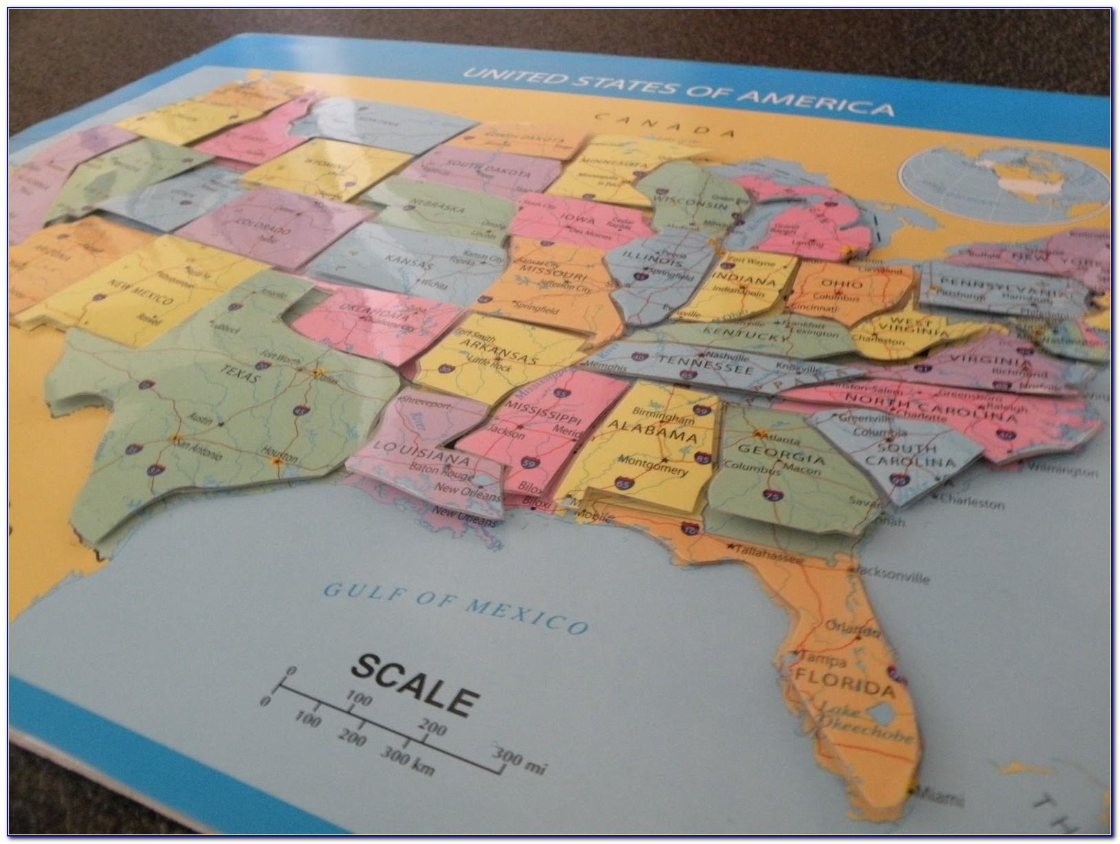 Us Maps Puzzle