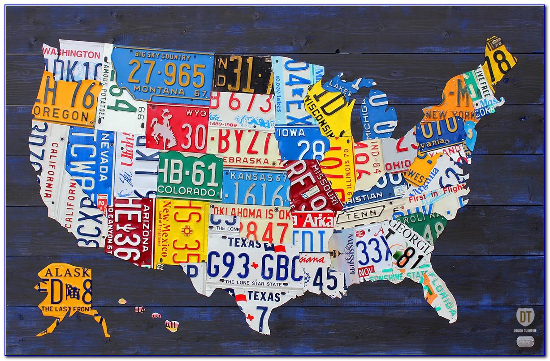 Usa Map License Plates