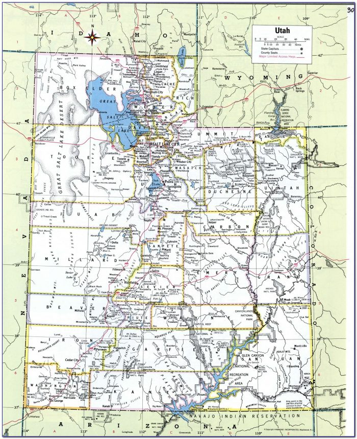 Utah Road Atlas Map