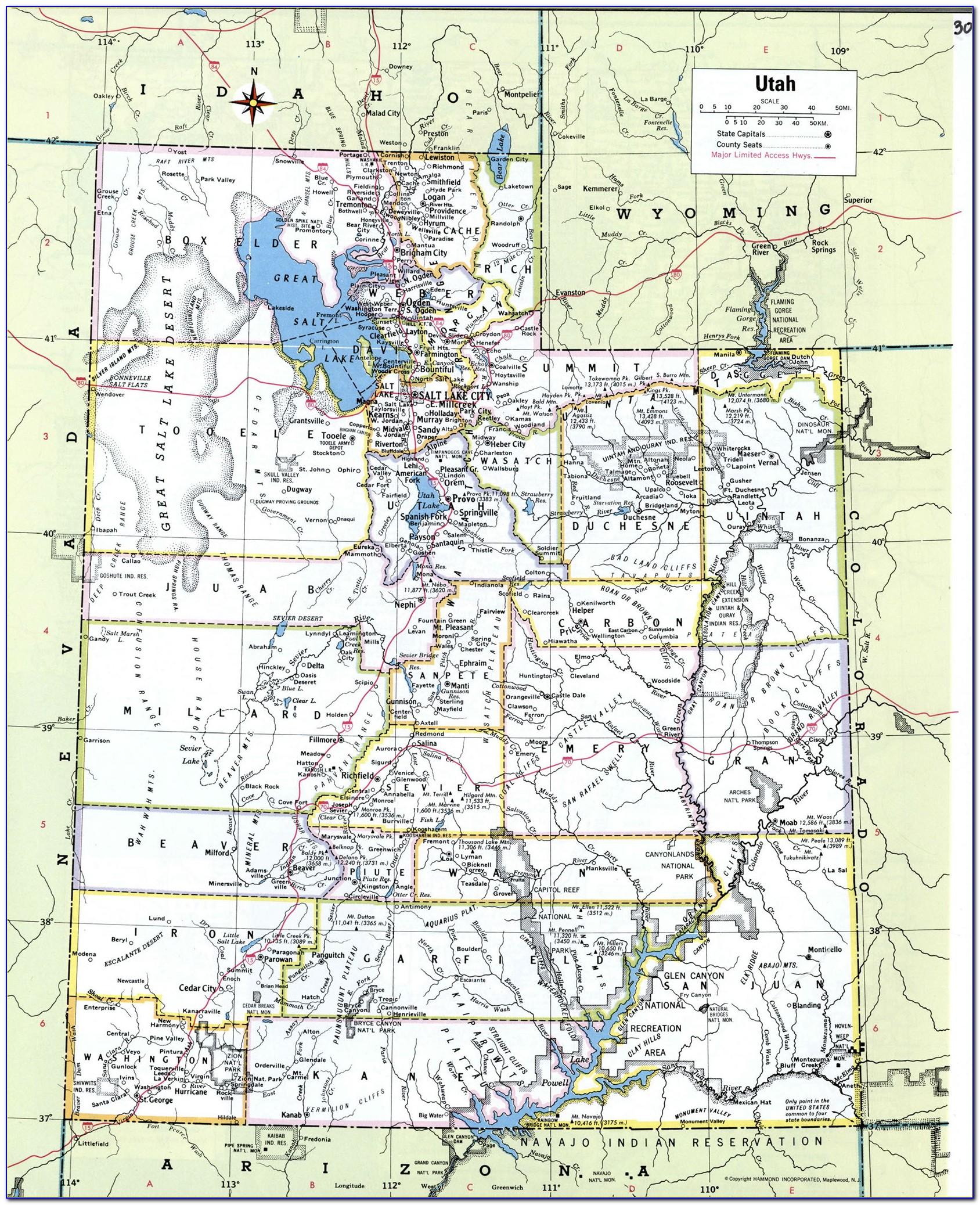 Utah Road Atlas Map