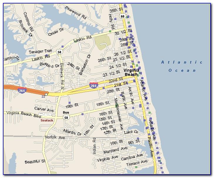 Va Beach Hotels Map