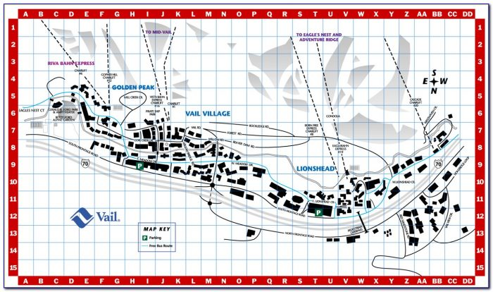 Vail Hotel Map
