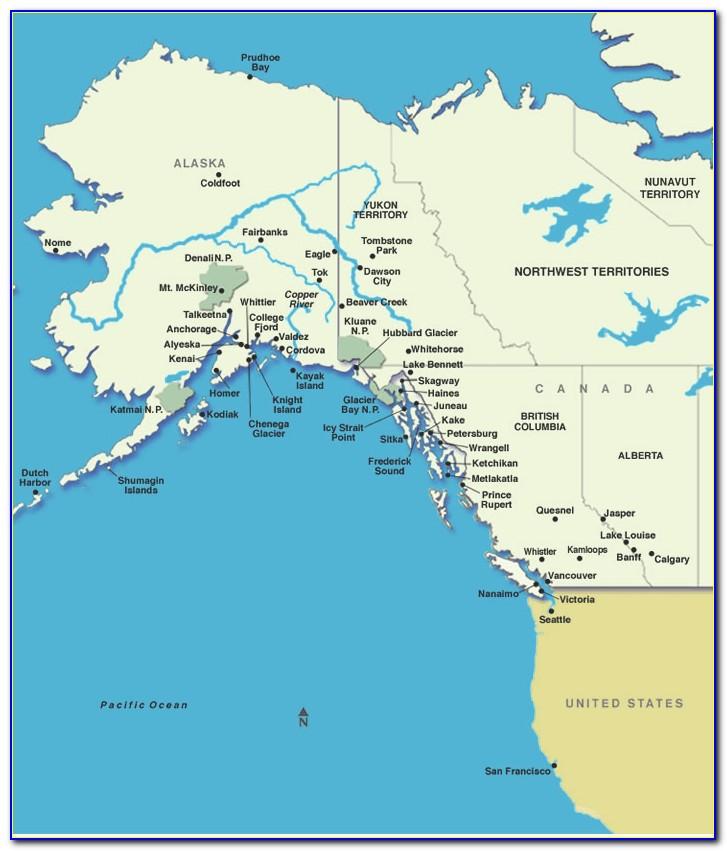 Vancouver Alaska Cruise Route Map