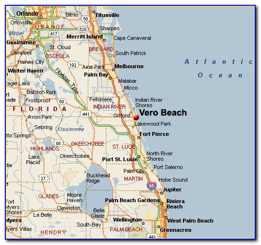 Vero Beach Fl Map Of Florida