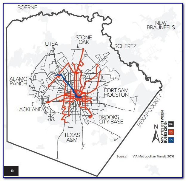 Via Bus Routes Map San Antonio