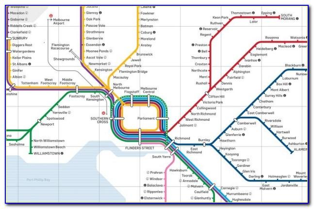Vic Metro Rail Map