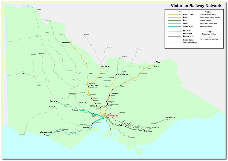 Vic Rail Network Map