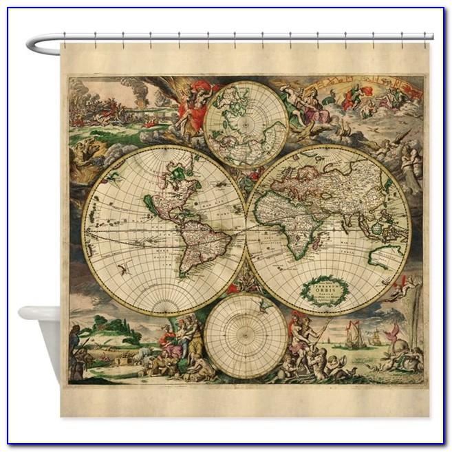 Vintage Map Curtains