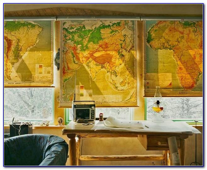 Vintage Map Roller Blind