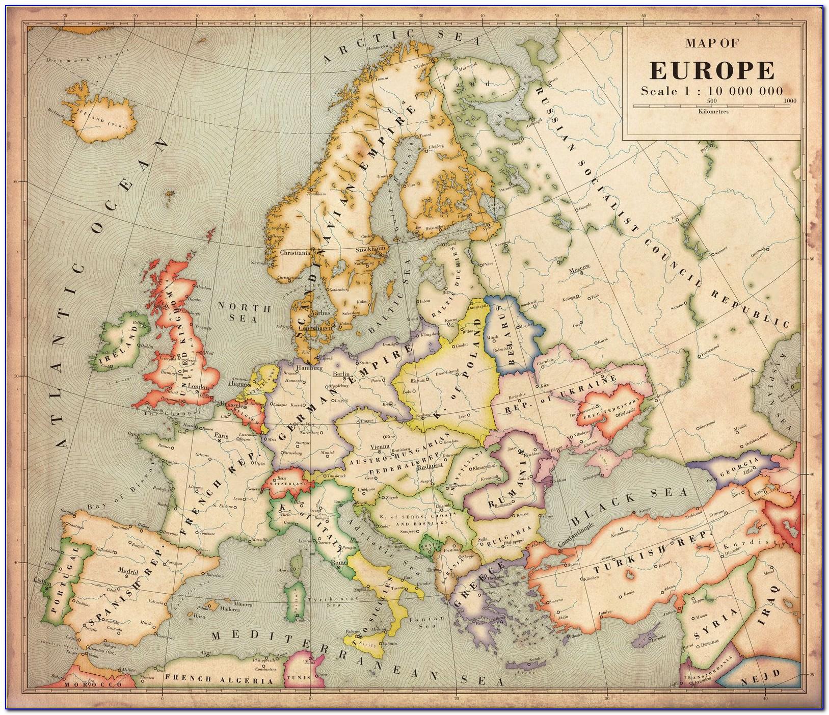 Vintage Maps Of Europe