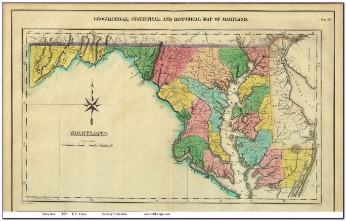 Vintage Maryland Map