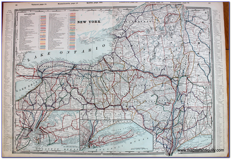 Vintage Railroad Maps