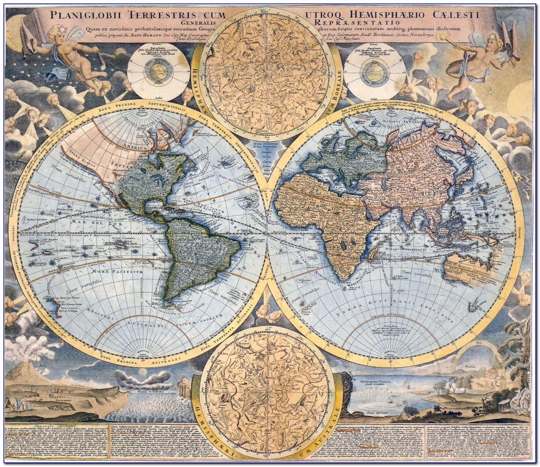Vintage World Map Download