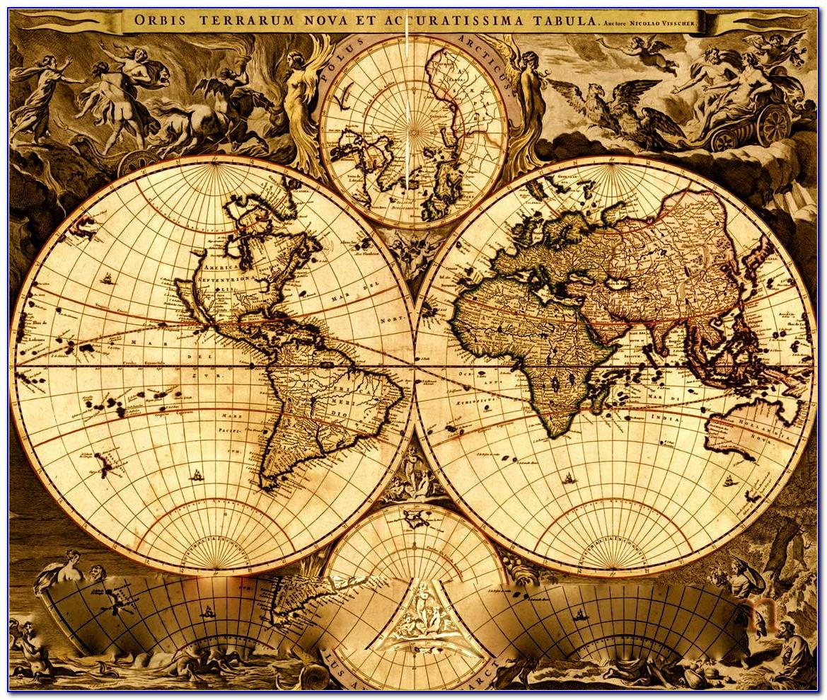 Vintage World Map Globe