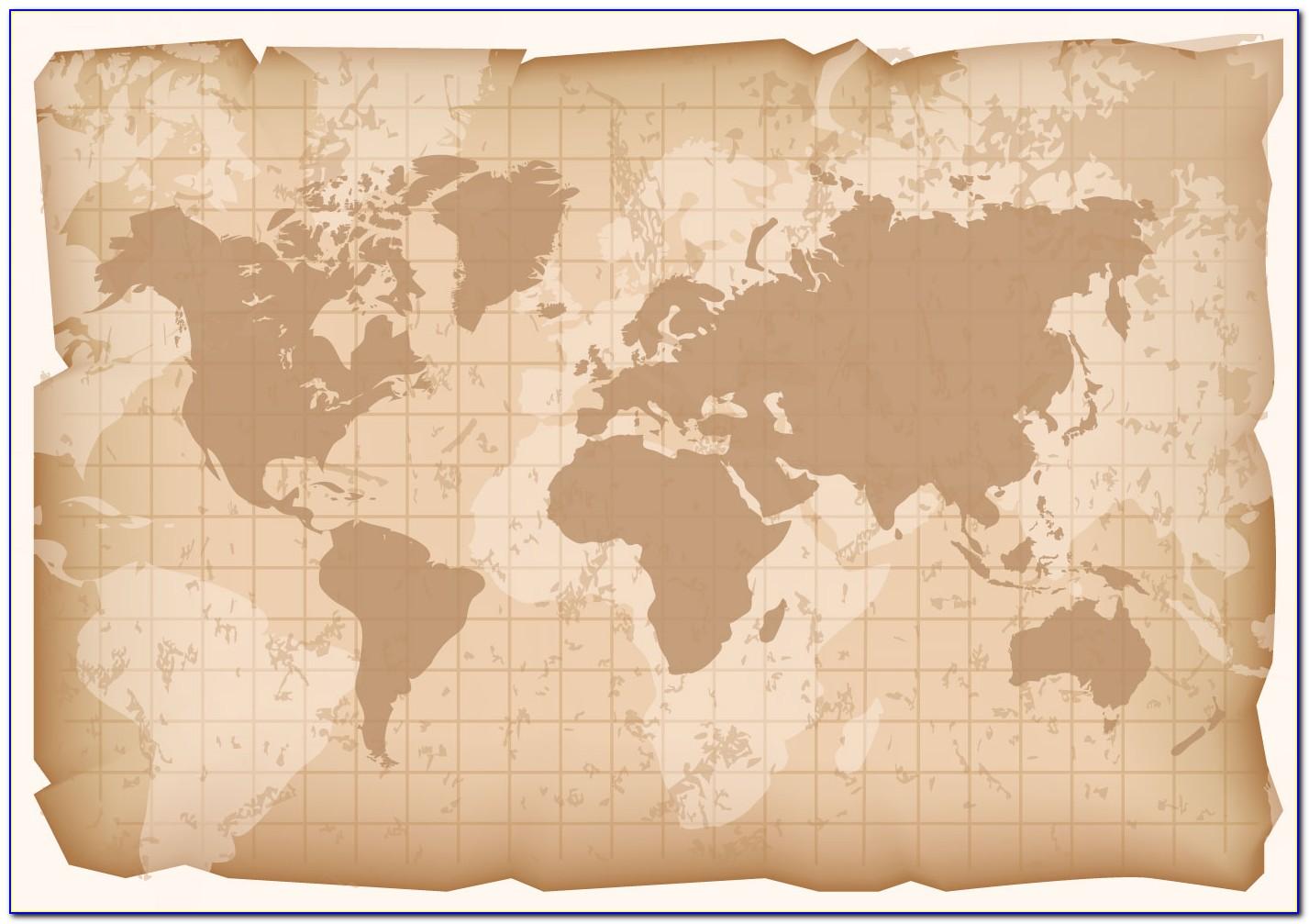 Vintage World Map Poster Download