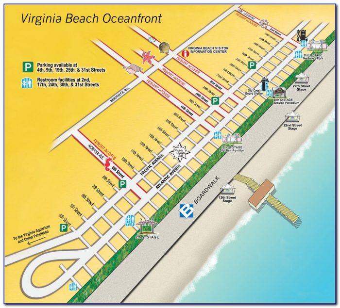 Virginia Beach Boardwalk Hotels Map