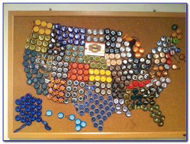 Virginia Bottle Cap Map