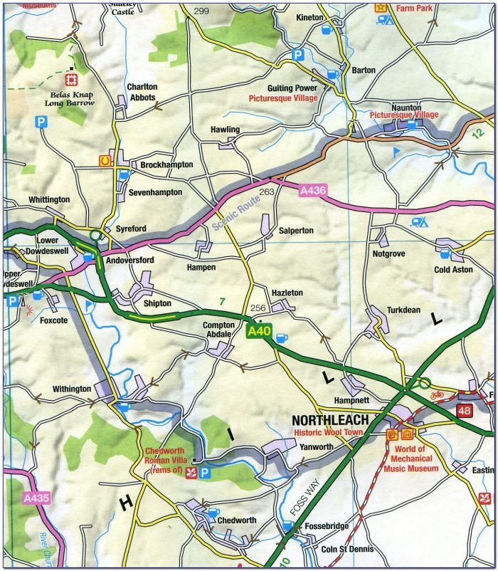 Visit Cotswolds Map